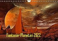 Fantasie-Planeten (Wandkalender 2022 DIN A4 quer): Eine fantastische Reise durch eine Digitale Planetenwelt (Monatskalender, 14 Seiten )