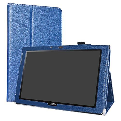 """Acer Iconia One 10 B3-A40 Custodia,LiuShan slim Sottile Pieghevole con supporto in Piedi caso per 10.1"""" Acer Iconia One 10 B3-A40 Tablet,Blu"""