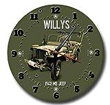 Vintage Sign Designs Willy's Jeep Métal Horloge