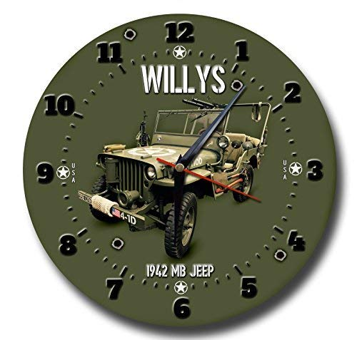 Vintage Sign Designs Willy's Jeep Metall Uhr