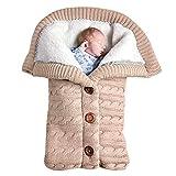 Swaddle Wrap Saco de Dormir para Bebé Niños Invierno Grueso Pelo de Cordero...
