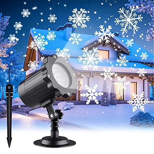 LED Proyector Luce Navidad, Proyector Lámpara Copos de Nieve, Dinámica de Efectos...