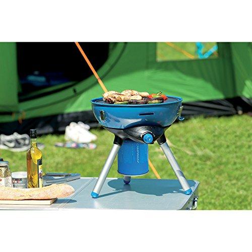 Campingaz Party Grill 400 CV - Barbacoa (2000 W, Barbacoa de contacto, Gas natural, 2000 W, 145 g/h, Mesa), abierto: Ø 36 x 42 cm (con soporte)