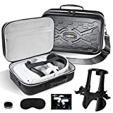 SARLAR Fashion Travel Protective Case for Oculus Quest 2 VR Gaming Headset and Tocuh Controllers Accessories Carrying Bag, Includes Multiple Oculus Quest 2 Accessories