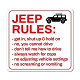 Jeep Rules Sticker Decal Funny Joke Luggage Rude Silly Car Laptop