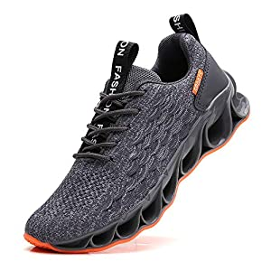 TSIODFO Youth Boys Shoes Size 7 for Men Sneakers Size 7 Fashion Sport Road Running Shoes Gym Runner Trail Athletic Tennis Shoes Outdoor Jogging Sneakers Grey