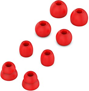 Replacement Silicone Ear Tips Earbuds Buds Set Compatible with Beats by dr dre Powerbeats Pro Wireless Earphones (Red)