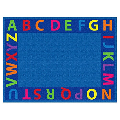 ECR4Kids Classroom A-Z Circle Time Educational Seating Rug for Children, School Classroom Learning Carpet, Rectangle, 6 x 9-Feet