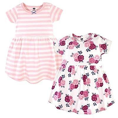 Hudson Baby Girl's Cotton Dresses, Blush Floral, 0-3 Months