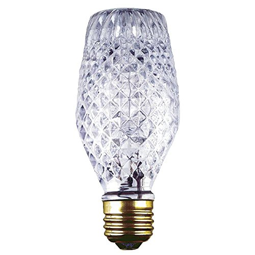 40-watt Amber Bulbrite 40G25//MAR Crystal Collection Incandescent G25 Globe Light with Marble Finish and Medium Base