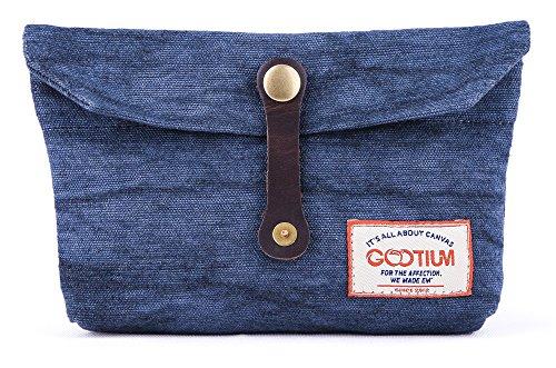 Gootium Umschlag Clutch – Handgefertigte Tasche Kleine Geldbörse Make-up Handtasche Zubehör Organizer Werkzeug Halter - blau - Einheitsgröße