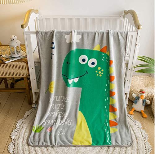Manta de franela de dibujos animados para niños, jardín de infantes, pausa para el almuerzo, manta pequeña, sofá de bebé, mantas para silla, manta de viaje para acampar 40 * 50 pulgadas