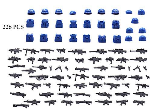 MAGMABRICK Personal de Paz de la Onu del Organización de Las Naciones Unidas (Onu). Soldado Figura con el Engranaje táctico Compatible con Lego