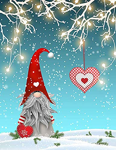 5D Full Drill Christmas Diamond Painting Kit, Mikimiqi DIY Christmas Hat Diamond Painting Kits for Adults and Beginner Diamond Arts Craft Decor, 15.8 X 11.8 Inch (Christmas Diamond Painting)
