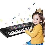 Tastiera Elettronica Pianoforte Bambini,37-Tasti Tastiera Musicale Portatile con Microfono Pianola Multifunzione Giocattolo Educativo Regalo di Natale per 3-8 Anni Ragazze Ragazzi Principianti