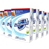 Safeguard Deodorant Bar Soap, Washes Away Bacteria, White with Touch of Aloe, 8 Bars, (Pack of 6, total of 48 Bars)