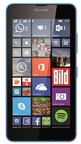 Microsoft Lumia 640 Dual-SIM Smartphone (5 Zoll (12,7 cm) Touch-Bildschirm, 8 GB Speicher, Windows 10) blau