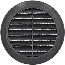 KOTARBAU® Ventilatierooster 125 mm rond flens 4 kleuren ventilatie insectenhor lamellengordijn ventilatierooster buisaansl...