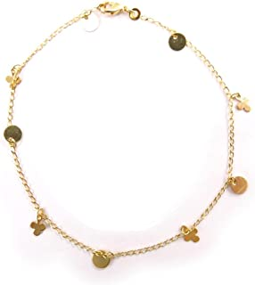 Les Trésors De Lily [F0365] - Ankle chain 'Porte-bonheurs' dorato.