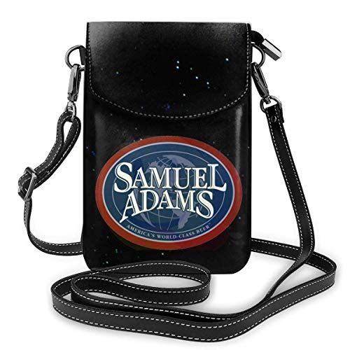 Damen Leder Handy Geldbörse Geldbörse Samuel Adams Bier Logo Tasche Crossbody Handy Geldbörse Geldbörse