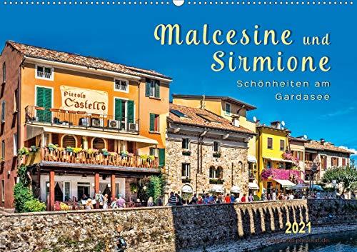Malcesine und Sirmione, Schönheiten am Gardasee (Wandkalender 2021 DIN A2 quer)