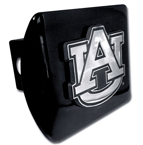 Elektroplate C210AU1 Auburn University Tigers Black with Chrome AU Emblem NCAA College Sports Metal Trailer Hitch Cover Fits 2