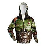 Doom Slayer Hoodie Doom Guy Cosplay Costume Jacket Zip Sweatshirt Coat for Men Women XL