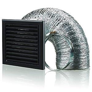 Blauberg UK BB-CHK-100-3-VJBR - Kit de extractor de ventilación para campana de cocina (100 mm), color marrón, gris, BB-CHK-100-3-VJGR: Amazon.es: Bricolaje y herramientas