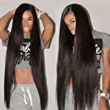 Mink 8A Brazilian Virgin Hair Straight Remy Human Hair 4 Bundles Deals (14 16 18 20 Inches) Unprocessed Brazilian Straight Hair Extensions Natural Color Weave Bundles by Grace Length Hair