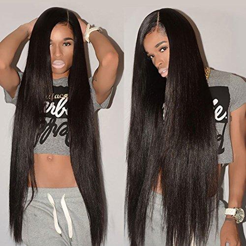 "Brazilian Straight Hair 4 Bundles (22"" 24"" 26"" 28"") 8A Remy Human Hair Weave Bundles Unprocessed Virgin Straight Brazilian Human Hair Bundles"