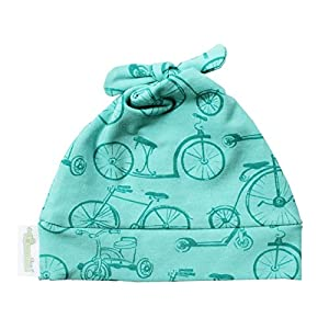 Woombie Cotton Double Knot Beanie Hats, Vintage Bicycles, 0-6m