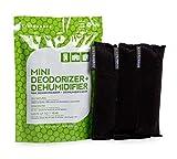 Ever Bamboo Mini Deodorizer & Dehumidifier w/Natural Bamboo Charcoal (3-Pack, 3 x 25 g)
