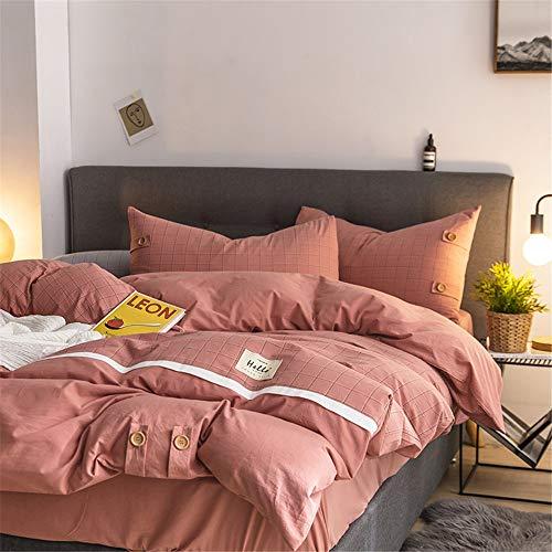 Set aus Tagesdecke Gittermuster Queen-Size-Bettwäscheset 4-teiliges Bettwäscheset 1 flaches Betttuch, 1 Spannbetttuch & 2 Kissenbezüge Superweiche, warme, atmungsaktive Anleitung for besseren Schlaf