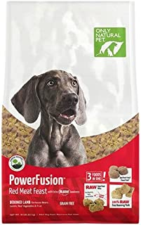 Only Natural Pet Powerfusion Raw Infused Grain Free Dog Food, High Protein All-Natural Whole, Fresh Ingredients & 100% Raw Meat Bites