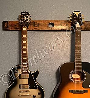 whiskey barrel stave guitar rack wall mount