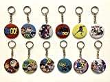 MS DecorBox Teen Titans 2.25' Button Keychains Party Favors Giveaway Supplies Backpack Keychains - 12 pcs (1 dozen)