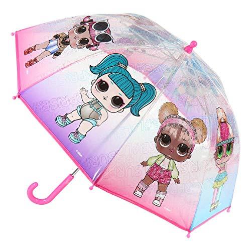 CERDÁ LIFE'S LITTLE MOMENTS- Paraguas Transparente de LOL Surprise - Licencia Oficial MGA, Color (2400000552)