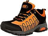 GUGGEN MOUNTAIN Zapatillas de Senderismo Zapatos para Caminar Botas de Monta–a Zapatos de Montana Nordic Walking Mujer T002, Naranja, EU 39