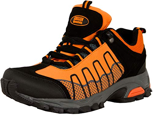 GUGGEN Mountain, Frauen Trekkingschuhe Damen Wanderschuhe Walkingschuhe Outdoorschuhe Outdoor Schuhe Softshell T002, Farbe Orange, EU 40