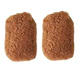Tight Afro Kinky Human Hair bulk for dreadlocks or Twist Braids,2pieces per Bundles,1 oz each one (8', #28 Orangish red blonde)