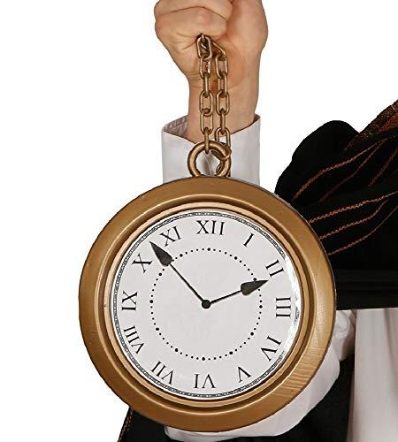 Guirca riesige goldene Taschenuhr Uhr groß Märchen Karneval Fasching Party Hase Gold ca. 20 cm