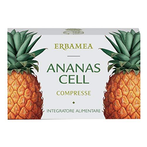 Erbamea Ananas Cell, Centella, Betulla per Cellulite e Ritenzione Idrica, Multicolore, 36 Compresse