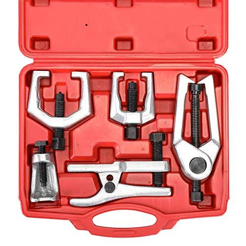 Z ZELUS 5 tlg Kugelgelenk Abzieher Spurstangenkopf Ausdrücker Werkzeug Koffer Set Kugelgelenk Pitman Arm Puller Reparatur Ausrüstung Handwerkzeug