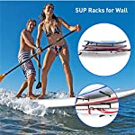 """Easygoproducts egp-surf-006 sup and surf 3 level wall storage for garage or room-paddle board and longboard racks 12 🏄 heavy duty: our sup wall rack was designed using all steel to withstand the weight of heavy paddleboards and long boards creating a more sturdy and durable paddle board storage rack. 🏄 overall protection: each of the 6 arms included of our sup board rack comes equipped with extra thick padding to protect and prevent harm done to your board unlike most paddle board racks. Our steel material is also durable and rust resistant to withstand a salt water environment. 🏄 perfect for many types of boards: unlike a lot of sup racks for wall storage, this paddle board holder can hold up to a 33'' wide board and can hold surfboards, paddleboard, longboards, skis, and some kayaks with a 12"""" spacing in between each arm level."""