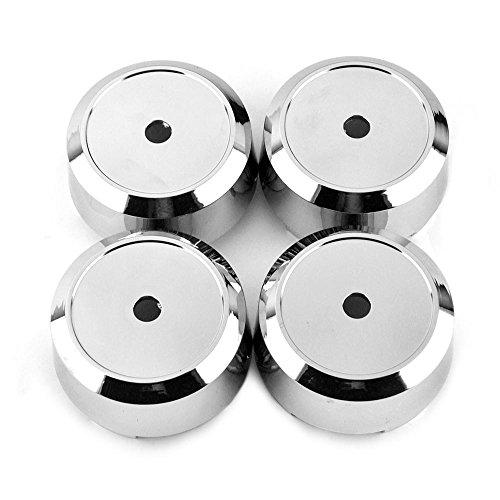 Rhinotuning 4 x 73 mm ABS-Material Silber Rad Nabenkappen Nabendeckel #1003-08#1003-06-04