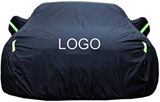 カーカバー に対応フォルクスワーゲンボラ車のカバー車の防水シート車のカバー車のカバー車体カバーカスタムロゴを受け入れるカスタムのカスタム車のカバー (Color : Black, Size : Plus cotton)