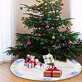 JTWEB - Falda de árbol de Navidad con Pelo sintético de Color Blanco Claro de Felpa para decoración de Navidad