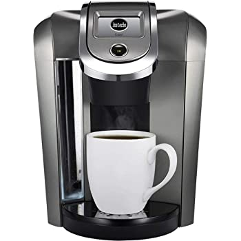 Keurig K550 Coffee Maker Single Serve 2.0 Brewing System with Top Needle Cleaning Maintenance Accessory and My K-Cup Reusable Coffee Filter, Platinum