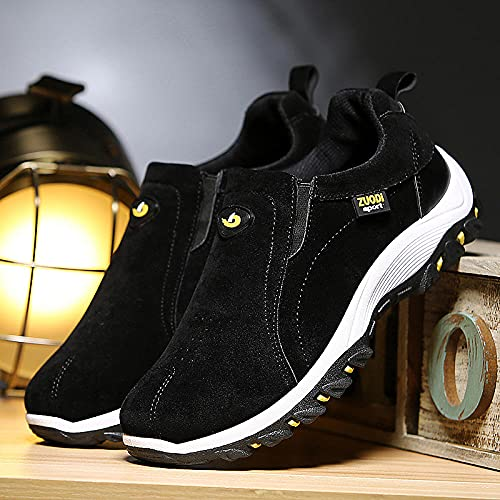 Aerlan Gym Shoes Lightweight Shoes,Zapatos de Senderismo para Hombre, Zapatos Transpirables Impermeables al Aire Libre-Negro_44,Botas de montaña Deportivas