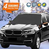 KBD Car Windshield Snow ice Cover Double Side Design,Snow, Ice, Frost,UV Full Protection,Extra Large & Thick Fit for Most Vehicle Windshield, Snow Cover, Waterproof, Snow Cover ((96x57) in)